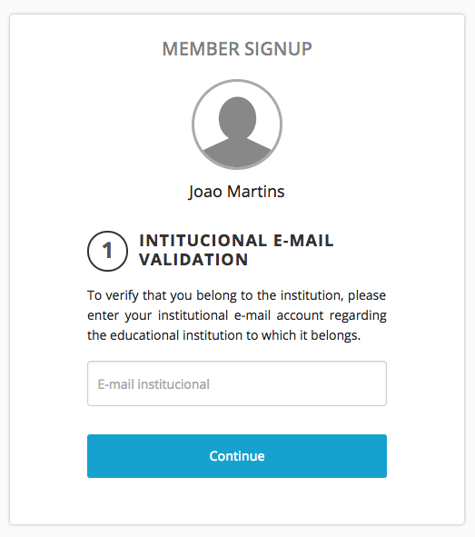If you want to validate the origin of your members, you can do so through the email domain.